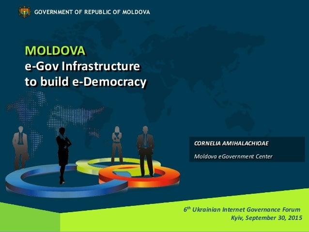 MOLDOVA e-Gov Infrastructure to build e-Democracy 6th Ukrainian Internet Governance Forum Kyiv, September 30, 2015 GOVERNM...
