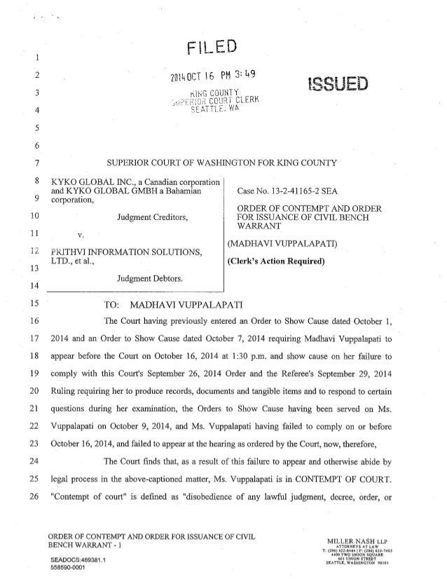federal bench warrant