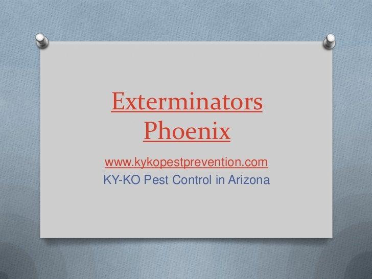Exterminators    Phoenixwww.kykopestprevention.comKY-KO Pest Control in Arizona