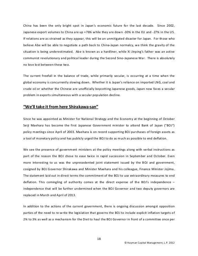 Hayman Capital Kyle Bass Investor Letter