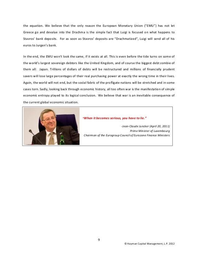 Hayman Capital Management Letter