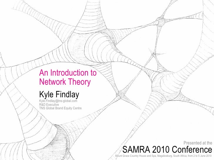 An Introduction to  Network Theory Kyle Findlay [email_address] R&D Executive TNS Global Brand Equity Centre Presented at ...
