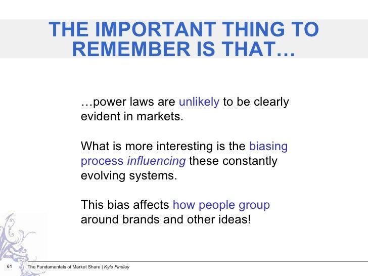 <ul><ul><li>… power laws are  unlikely  to be clearly evident in markets. </li></ul></ul><ul><ul><li>What is more interest...