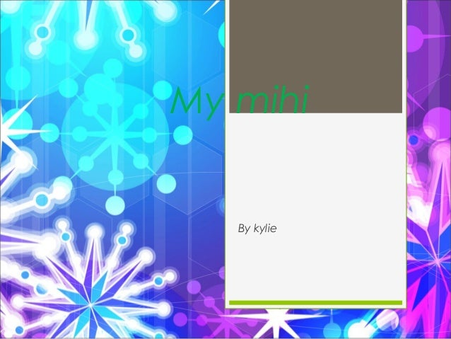 My mihi By kylie