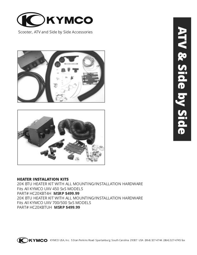 KYMCO Accessories Catalog 4WD 2015