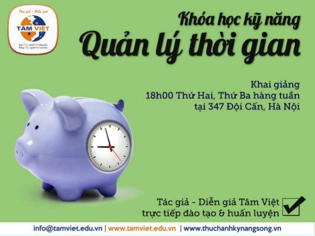 Kỹ năng QUẢN LÝ THỜI GIANTâm Việt Group 1