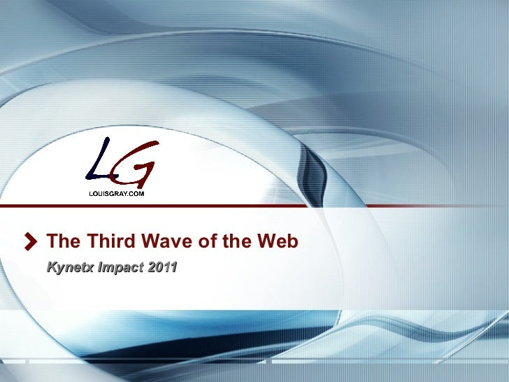 The Third Wave of the Web Kynetx Impact 2011