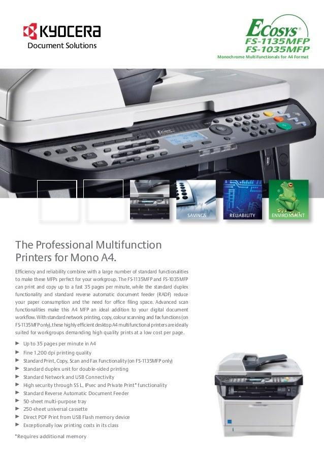 Mode d'emploi KYOCERA FS-1135MFP - photocopieur Trouver une ...