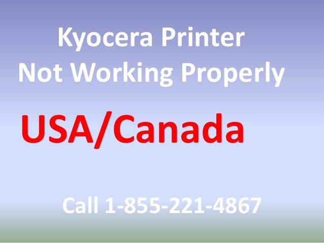 Kyocera Printer Tech Support Number#1-855-221-4867