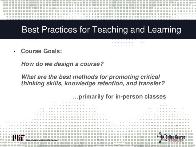 online course design for teaching critical thinking Engaging students in discussion online (from the teaching and learning  bulletin 62 [2002]  design questions that provoke critical thinking: closed  questions limit  connect ideas discussed online to the rest of the course, eg,  answer.
