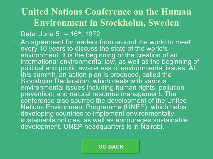united nations calls for meeting to discuss worsening environmental problems Global environment and population the 1972 united nations conference on the human environment and the 1992 united nations conference on environment and development (unced) brought global environmental problems to the attention of the world.