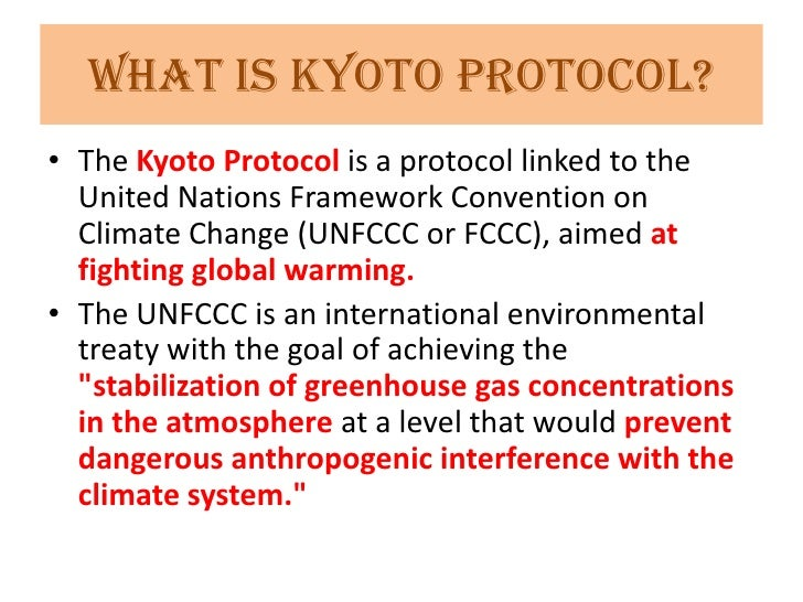 kyoto treaty and global warming essay