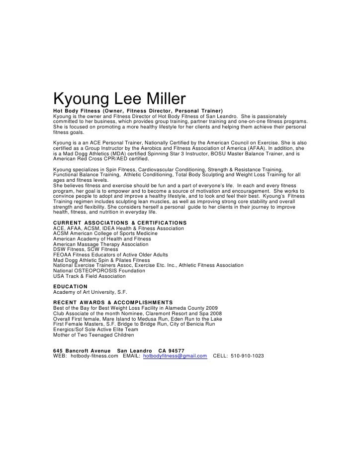Kyoung Lee Bio 070909