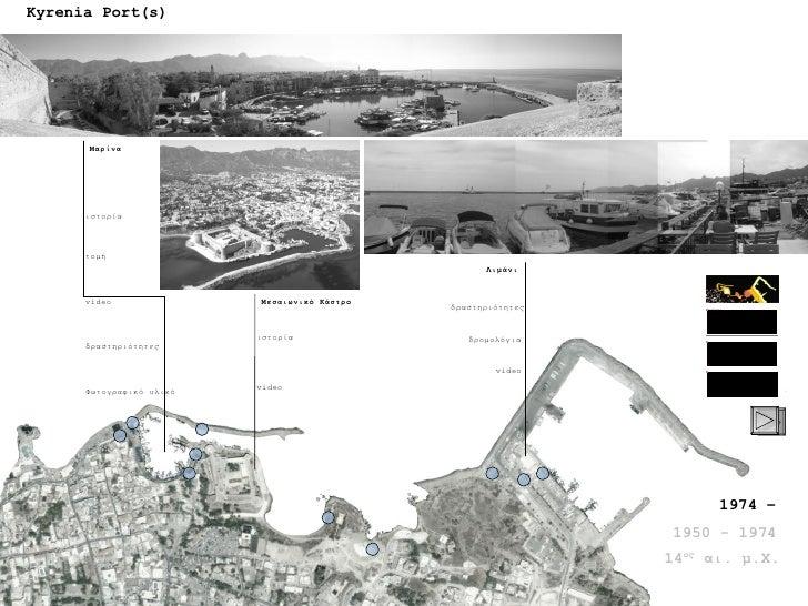 Kyrenia Port(s) Μαρίνα Μεσαιωνικό Κάστρο Λιμάνι 1974 – 1950 - 1974 14 ος  αι. μ.Χ. ιστορία δραστηριότητες video τομή ιστορ...