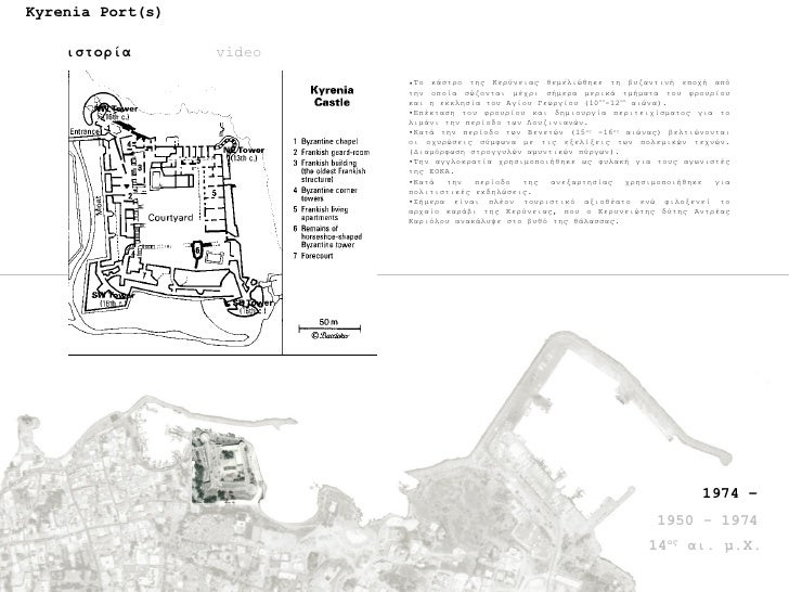 Kyrenia Port(s) ιστορία video <ul><li>Το κάστρο της Κερύνειας θεμελιώθηκε τη βυζαντινή εποχή από την οποία σώζονται μέχρι ...