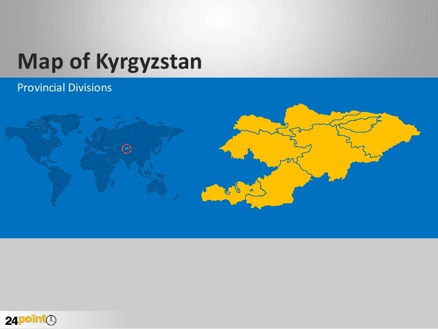 Map of Kyrgyzstan Provincial Divisions