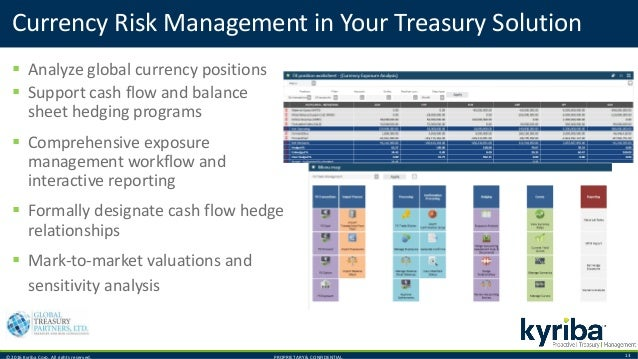 © 2016 Kyriba Corp. All rights reserved. PROPRIETARY & CONFIDENTIAL. 13 Currency Risk Management in Your Treasury Solution...