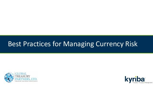 Best Practices for Managing Currency Risk