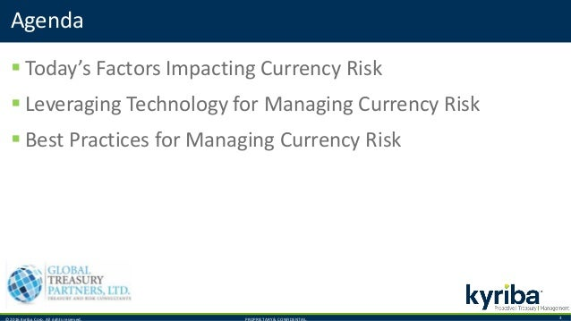 © 2016 Kyriba Corp. All rights reserved. PROPRIETARY & CONFIDENTIAL. 3  Today's Factors Impacting Currency Risk  Leverag...