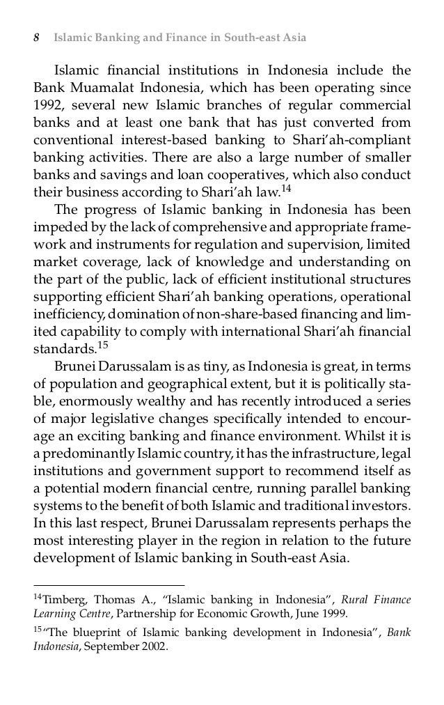 Islamic banking and finance in south east asia by angelo m vernandos blueprint of islamic banking development in indonesia bank indonesia september 2002 27 malvernweather Gallery