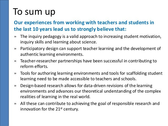 E. Kyza:Motivating teacher and student science learning