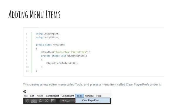 Extending unity3D Editor