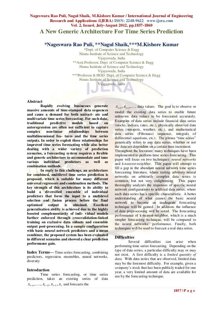 Nageswara Rao Puli, Nagul Shaik, M.Kishore Kumar / International Journal of Engineering          Research and Applications...
