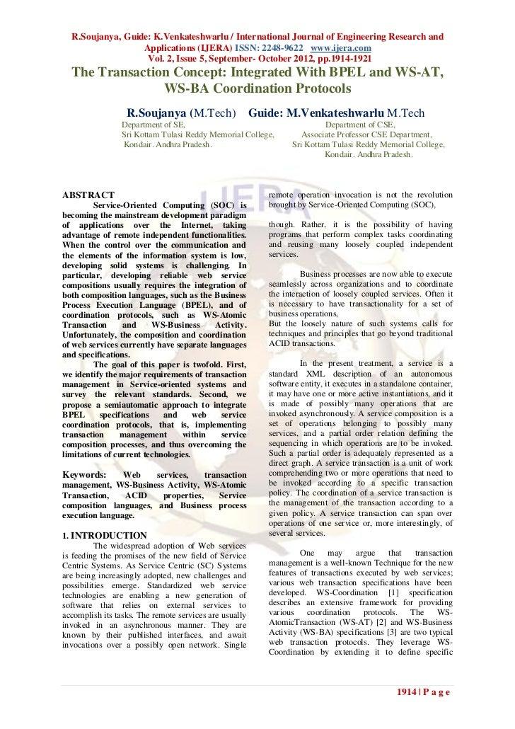 R.Soujanya, Guide: K.Venkateshwarlu / International Journal of Engineering Research and                  Applications (IJE...