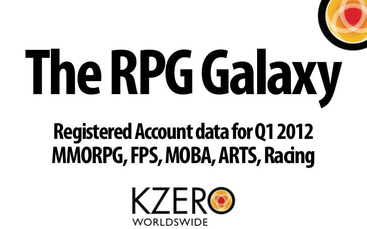 The RPG Galaxy Registered Account data for Q1 2012 MMORPG, FPS, MOBA, ARTS, Racing