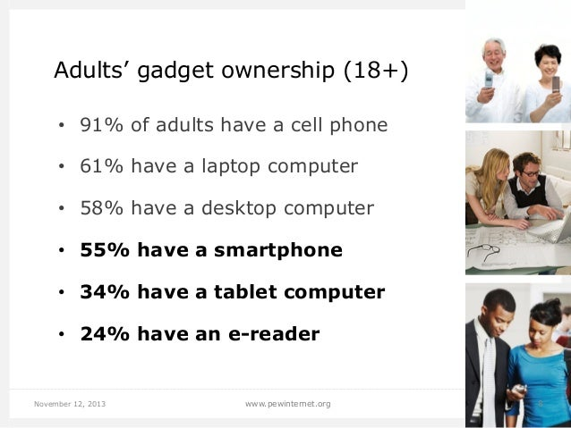 Tablets & e-readers by age group E-readers  Tablets  50% 45%  46%  44%  40% 35%  37%  30% 25% 20%  31%  30% 24%  24%  22% ...