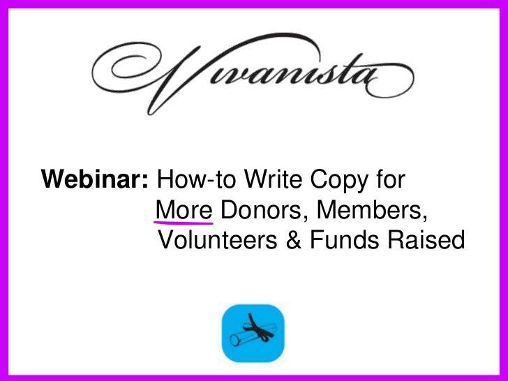 WerwerWerwerWerwerWebinar: How-to Write Copy for     More Donors, Members,Werwer     Volunteers & Funds RaisedWrewerCopywr...