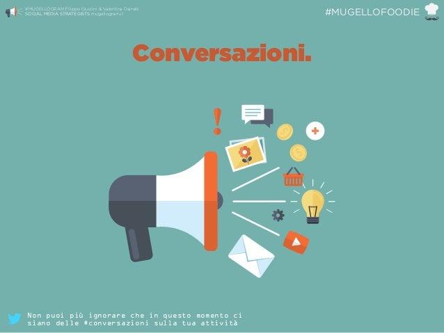 Conversazioni. #MUGELLOGRAM Filippo Giustini & Valentina Dainelli  SOCIAL MEDIA STRATEGISTS mugellogram.it #MUGELLOFOODIE...