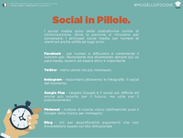 Social in Pillole. I social media sono delle piattaforme online di comunicazione, dove le persone si ritrovano per convers...