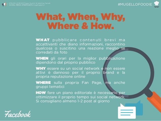 What, When, Why, Where & How. WHAT pubblicare contenuti brevi ma accattivanti che diano informazioni, raccontino qualcosa ...