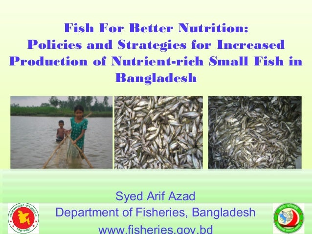 Fish For Better Nutrition: Policies and Strategies for Increased Production of Nutrient-rich Small Fish in Bangladesh Fish...