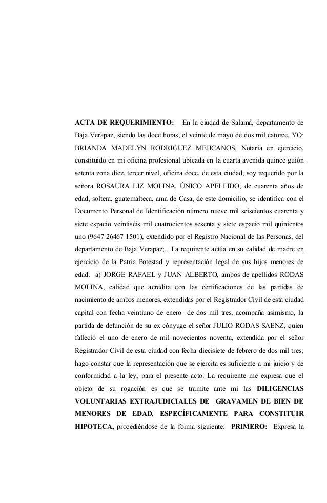 L. 15 acta not. requerimiento gravamen bienes de menor.doc
