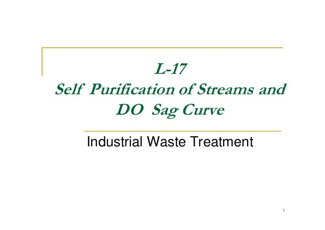 L-17 Self Purification of Streams and DO Sag CurveDO Sag Curve Industrial Waste Treatment 1