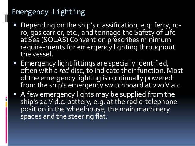 l 1 ancillary electrical services ships lighting and maintenance of l