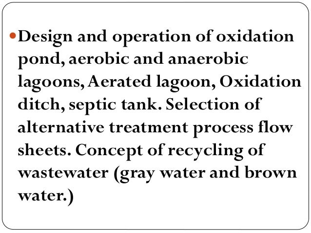 L 1 and 2 introductio and definitions for Design of oxidation pond