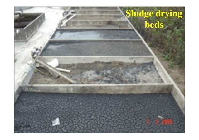 4. Heat drying • Reduces water content • Temp @ 350oC • Process carried out in kiln. • Dried sludge used as soil condition...