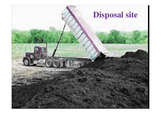 Sludge Reuse or Disposal Options Land Application • application of sludge to condition the soil or fertilize crops / other...