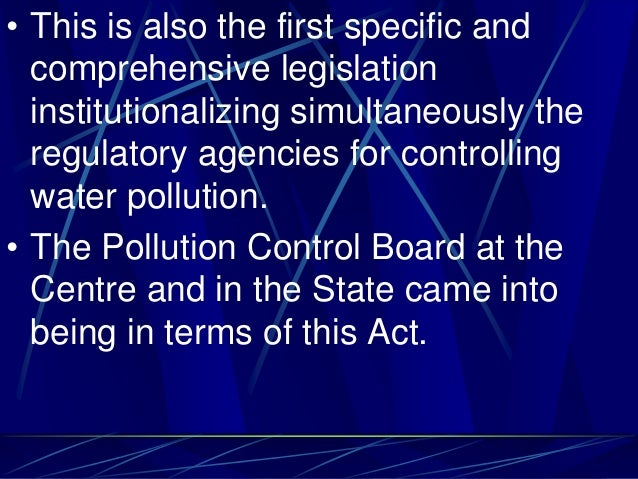 • This is also the first specific and comprehensive legislation institutionalizing simultaneously the regulatory agencies ...