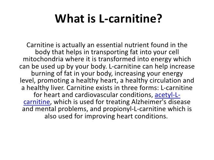 L carnitine Slide 3