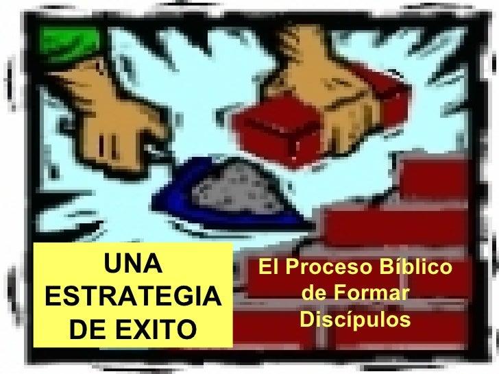 UNA ESTRATEGIA DE EXITO El Proceso Bíblico de Formar Discípulos