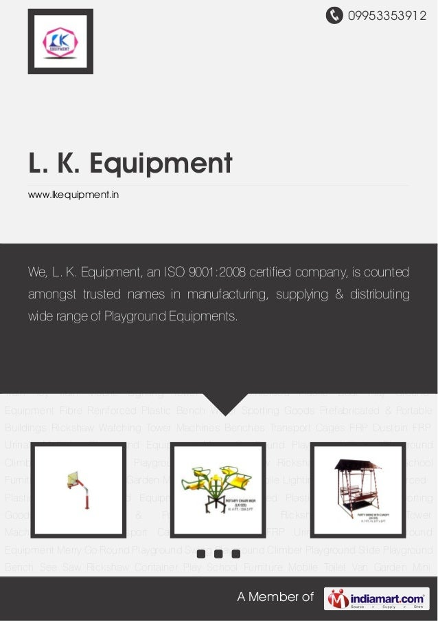 09953353912A Member ofL. K. Equipmentwww.lkequipment.inMultiplay Playground Equipment Merry Go Round Playground Swing Play...