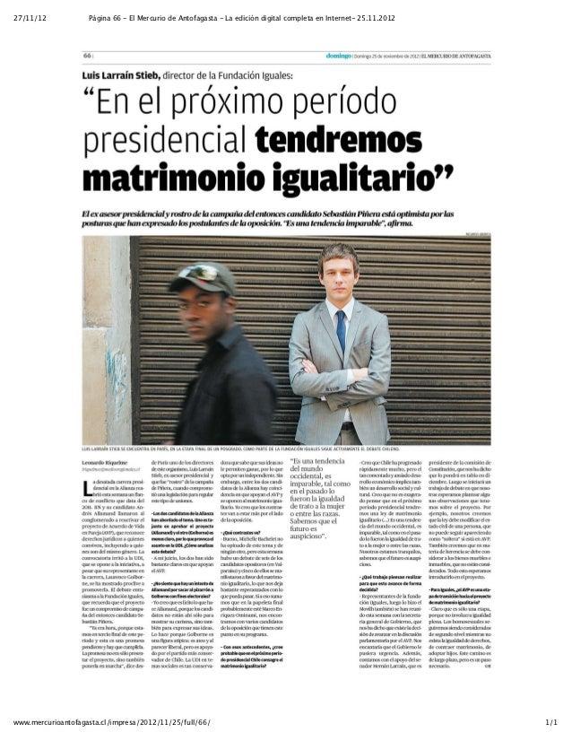 27/11/12            Página 66 - El Mercurio de Antofagasta - La edición digital completa en Internet- 25.11.2012www.mercur...