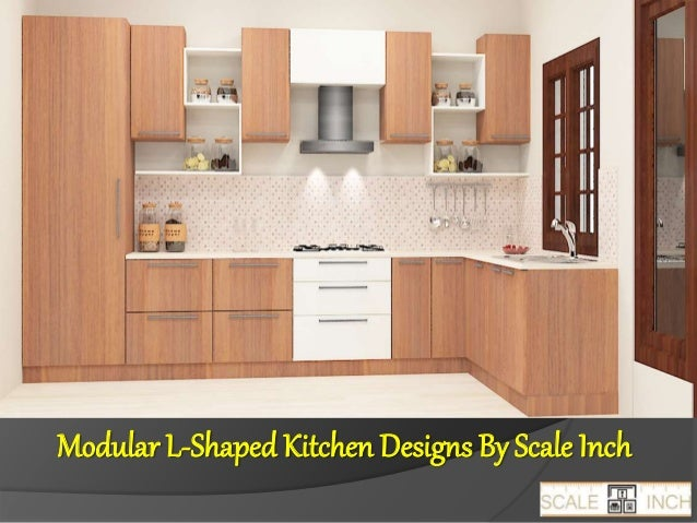 Modular L Shaped Kitchen Designs By Scale Inch ...