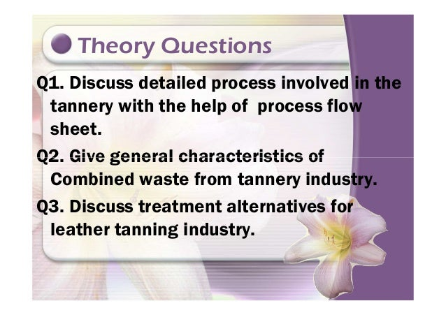 L tannery industry