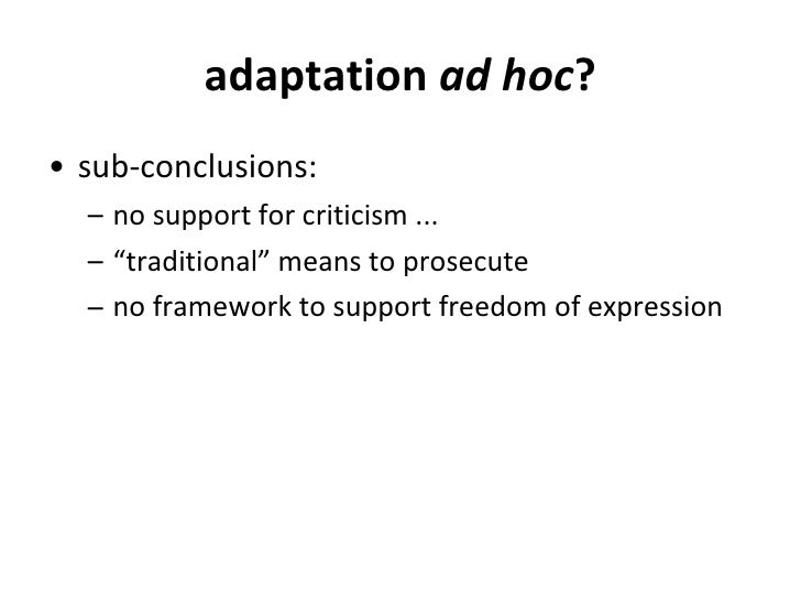 expression latina ad hoc reports definition - photo#7