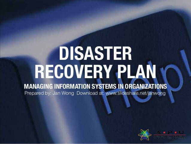 L008 Disaster Recovery Plan (2016)